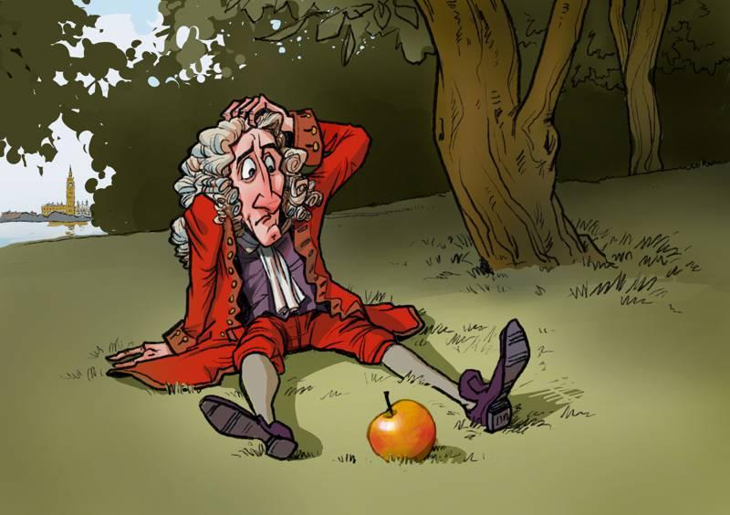 Izaak Newton i jabłko